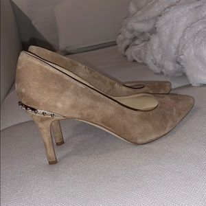 Sam Edelman suede heels with spikes 7 tan color